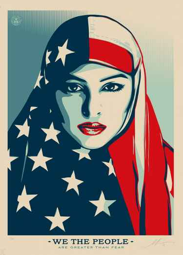 'Hope' artist Shepard Fairey designed new posters as protest to President Trump