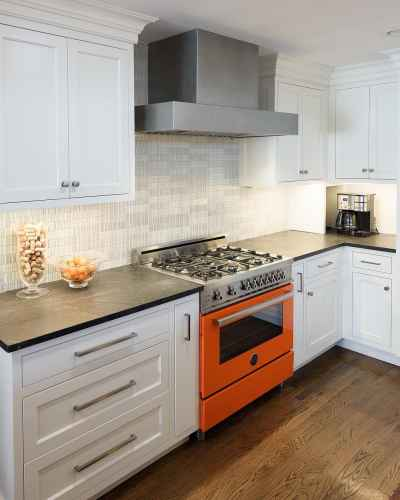 Brighten up your #kitchen with colorful appliances 🧡#KitchenDesignIdeas