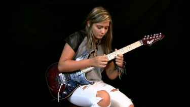 Tina S, 16-Year-Old Girl 'Shred Queen of YouTube', Covers Jason Becker's Altitude