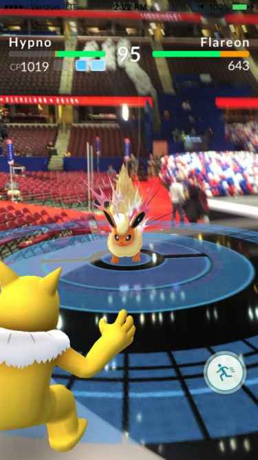 The Republican National Convention is also a Pokemon Gym!