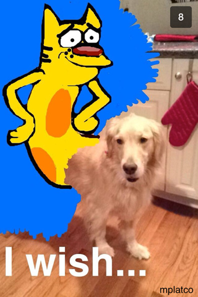 #SnapchatDrawings: got this cute #dog snap from someone... his name is woody