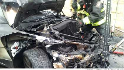 The cause of #Tesla Model S fire in Tennessee