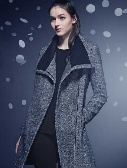 Calvin Klein Wool Blend Coat #StyleInspiration