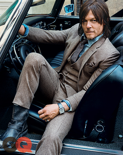 The Walking Dead's Norman Reedus on GQ October 2014 Cover... I think he's hot at 45... #swag