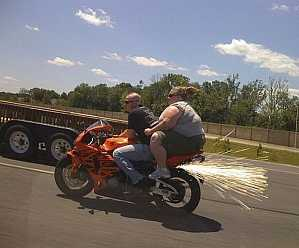 Riding at the back of a bike | #wtf