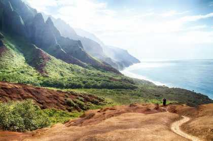 Have you guys been to #Hawaii? This picture of Kalalau Trail in Kauai is simply #stunning!