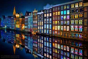 Colorful Amsterdam at Night