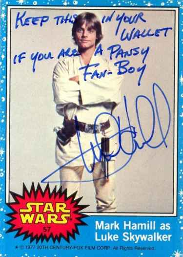 Mark Hamill gives the funniest autographs