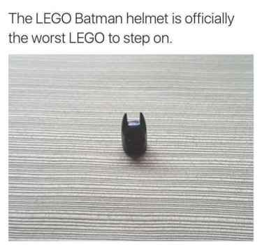 The #LEGO #batman helmet nightmare...