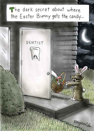 Where does the Easter Bunny gets the candy?