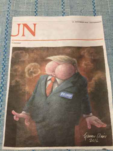Donald Prump, featured in Icelandic newspaper