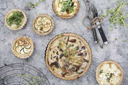 Yummy #Chestnut Tart Crust with Oyster #Mushrooms #Recipe