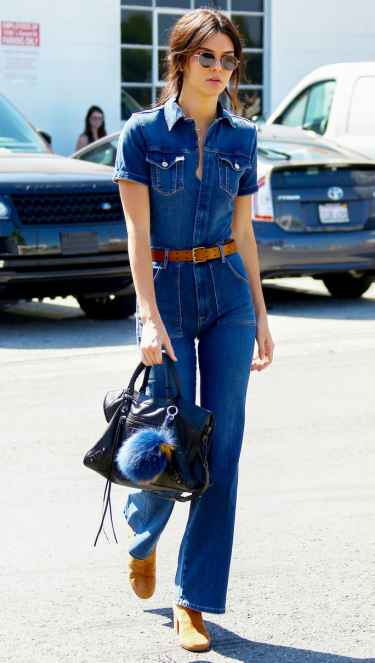 Kendall Jenner '70s in a Denim Jumpsuit