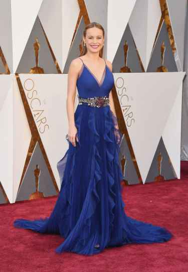 Brie Larson Oscars 2016 Royal Blue Gucci Dress