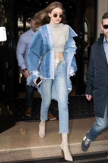 #StyleInspiration: Gigi Hadid rocks in oversized denim jacket