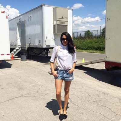 Meghan Markle White Button Shirt and Denim Shorts Summer Look