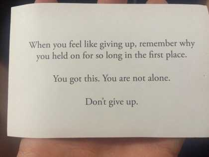 Don't give up... You got this! 👍