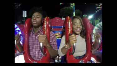 Man Cries on Slingshot Ride Seatbelt Prank