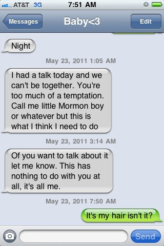 Just another funny breakup text... lol