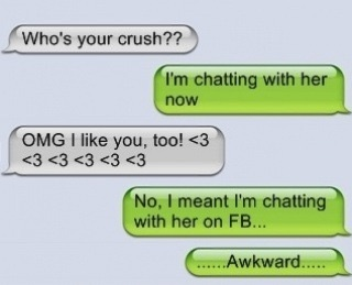 I'm chatting with her on Facebook... #FunnyTextMessage