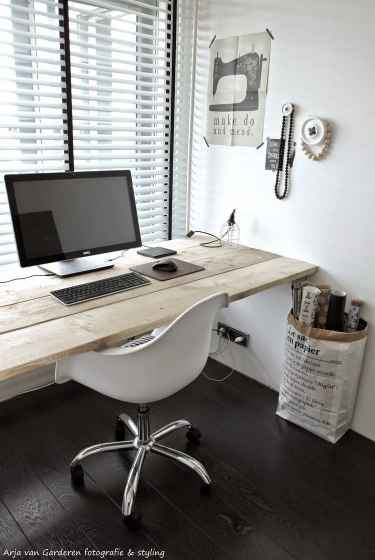 Industrial Wood Desk Home Office