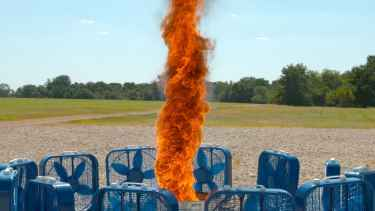 Watch Fire Tornado in Slow Motion!