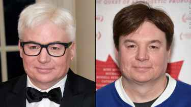 Mike Myers is officially Steve Martin with his new silver hair