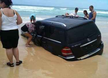 Here's why you don't drive on the beach... #LOL