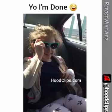 Little girl shows you how to rap in da hood!