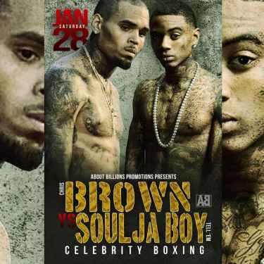 Chris Brown vs Soulja Boy #CelebrityBoxing is on! Saturday, January 28