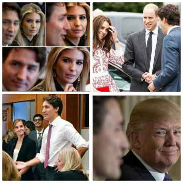 Noone is safe from Canada's PM Justin Trudeau... not even President Trump! 😂