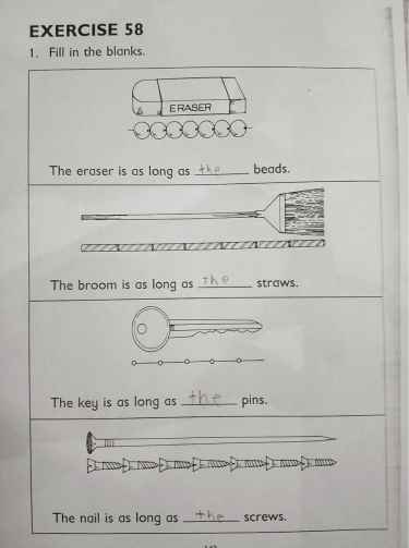 The eraser is as long as the beads... pretty smart! 💯