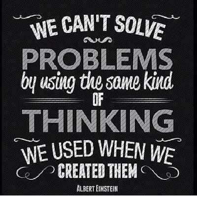 #WednesdayWisdom: We can't solve problems by using the same kind of thinking we used when we created them. #Einstein #Quotes