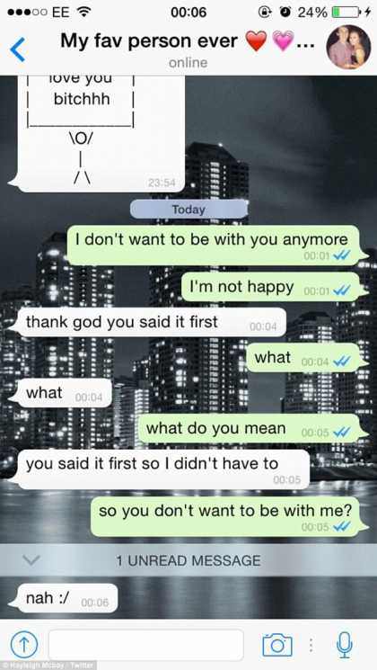 Woman dumps boyfriend for April Fools on WhatsApp, the guy agreed!