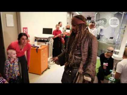 Johnny Depp Visits Children's Hospital as Captain Jack Sparrow