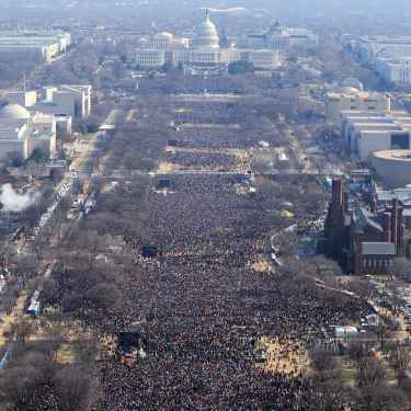 Obama's 2009 Inauguration Crowd vs Trump's Crowd