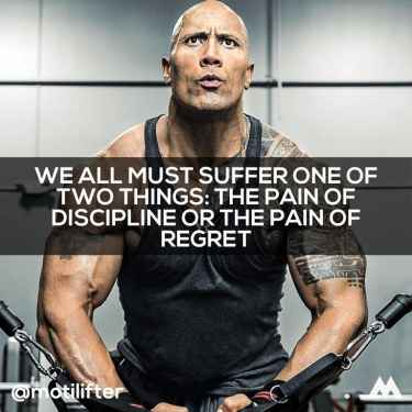 #WednesdayWisdom: We must suffer one of two things: the pain of discipline or the pain of regret...