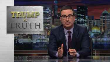 John Oliver highlights where President Trump get his lies