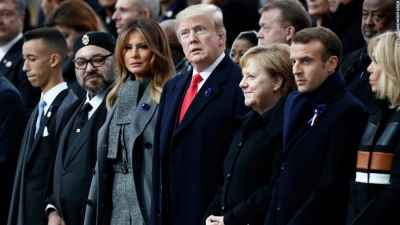 #Macron rebukes #nationalism as #Trump observes Armistice Day