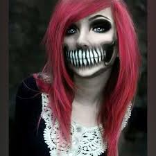 So I've recently dyed my hair.. I promise. This is the last picture. Promise. Happy halloween!!!!!