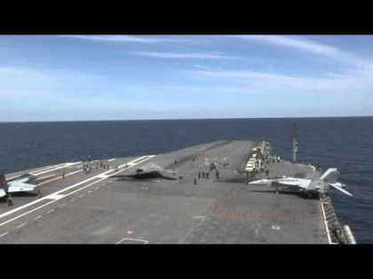 #Tech: X-47B Completes First Carrier-based Launch