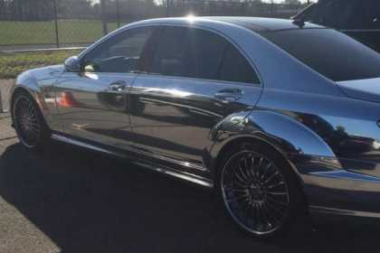 #BestRides: Oh Look, Alfredo Simon Has a Chrome Mercedes Benz