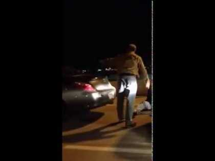 Road rage resulted in assault, the assailant got knocked-out!
