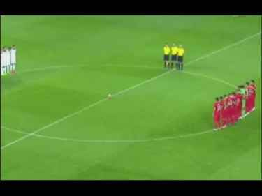 "Turkish football fans boo and shout ""Allahu akbar"" during a minute of silence for France terror victims"