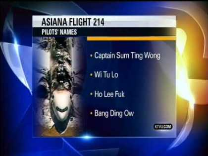 Asiana pilots names from the Boeing 777 airliner crash at San Franciso airport ... | #news #wtf
