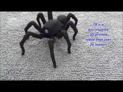 #Tech: T8, a 3D printed wirelessly controlled bio-inspired octopod robot