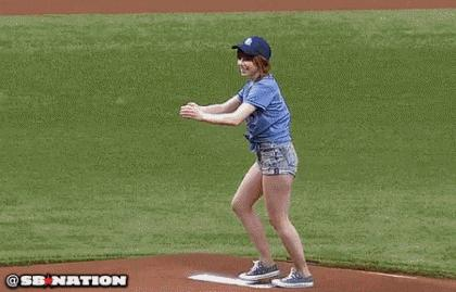 Carly Rae Jepsen first baseball pitch | #funny #music #sports