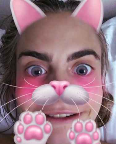 Cara Delevingne on #Snapchat
