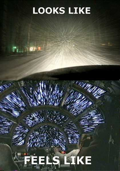 #LOL: My drive home from work tonight #hyperdrive #MillenniumFalcon #awesome