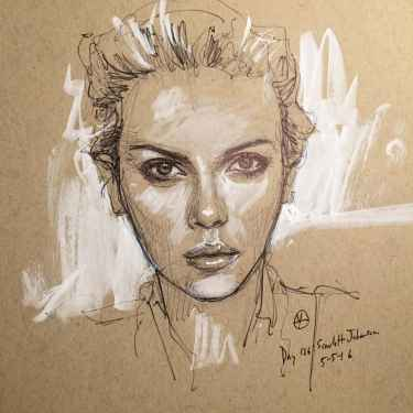 Scarlett Johansson Illustration